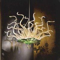 Lâmpada de pendente moderna placas de vidro murano chandeliers luzes luz italiana luz iluminação indoor edifício duplex lâmpadas de suspensão para quarto sala de estar decoração de casa