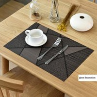 Table Runner 45*30cm PVC Heat Insulation Non-slip Placemat Use On Both Sides Dining Bowl Dish Cup Pad Mat Waterproof