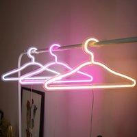 LED 네온 사인 빛 SMD2835 PVC 및 아크릴 행거 핑크 화이트 따뜻한 조명 실내 하우스 휴가 조명 파티 웨딩 스토어 장식