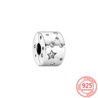 FC Jewelry Fit Original Pandora Charm Bracelet 925 Sterling Silver Galaxy Star Zircon Clips Stopper Lock Beads Pendant For Making Berloque New