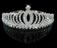 2021 Royal Crown Shiny Crystal Real Sample Bridal Weddin Headpieces Hair Accessories