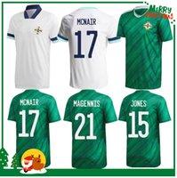 2021 Irlanda do Norte Jersey Jersey Largerty Casa Away Men + Kits Kits Davis Magennis Evans McNair Boyce Football Shirt