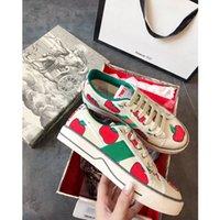 Gucci shoes 2021 Son Üst Deri Düz Erkekler Ve Kadınlar Tasarım Klasik Kaplan Rahat Ayakkabılar Melissa Işlemeli Sneakers Boyutu 35-45