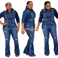 Piece Set African Clothes For Women Dress Autumn Vestidos Elastic Jeans Suit Outfits Dashiki Plus Size Africa Clothing Ethnic