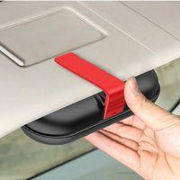 Other Interior Accessories Universal Car Glasses Case Built-in Fiber Velvet Protect ABS Sunglasses Box Sun Visor Buckle Storage