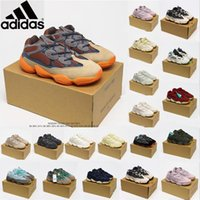 2021 Kanye West 500 Çöl Sıçan Koşu Ayakkabıları Kemik Beyaz Yardımcı Taş Yumuşak Spor Sneakers Allık Ay Sarı Tuz Eğitmenleri Boyutu 36-45 4A5DW