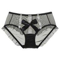 Women's Panties Summer Women Sexy Cute Girls Cotton Front Lace Thongs Briefs Mesh Transparent Underwear