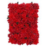 Panneau de fleurs artificielles Exquise Multipurpose Soie Stimulation décorative de la stimulation de la soie de rose pour Work Wholesale Fleurs Couronnes