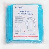 Vêtements de protection jetables Housse d'isolation Niveau 2 Non tissé, 10 PCS Poignets tricotés