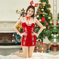 Frauen Weihnachten erotische Dessous Sets Mode Trend Red Sexy Temptation Bar Nachtclub Festival Kleidung Designer Weibliche sexy Unterwäsche Sets