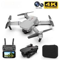 E88 Drone 4K HD Dual fotocamera Posizionamento visivo 1080P WiFi FPV Altezza Conservazione RC Quadcopter Gesture Photography