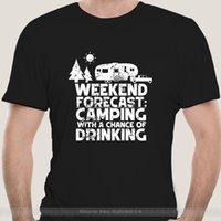 패션 티셔츠 남자 코튼 브랜드 Teeshirt 주말 예측 T 셔츠를 마시는 기회가있는 캠핑 십대 팝 티셔츠