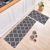 Tapete de cozinha xadrez esteira nórdica longa corredor tapete durável moderno entrada quarto e tapetes non deslizar carpetes