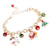 Alloy Christmas Bracelet Party Decoration Cartoon Pendant Bracelets Children Fashion Accessories Gift Supplies