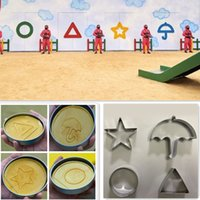 Squid Game Sugar Honeycomb mould Cake Biscuit Mold 4-Piece Set no box Dalgona Candy Recipe Round Star Umbrella-shaped Triangle