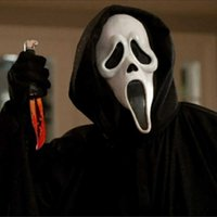 Scary Scream Ghost Face Mask Fancy Bloody Dress Halloween Party Costume Decorations for Home Decor