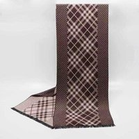 Scarves Winter Cashmere Like Scarf Knitted Wool Adult Autumn Warm Plaid Neck Jacquard