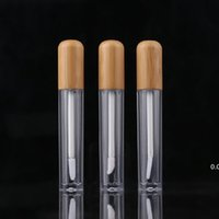 New5ml Vintage Bambú Labios Botella de embalaje Botella de embalaje Labios recargables Tubo Bálsamo Vacío Contenedor de Cosméticos Packaging LipBrush DIY TUBES EWF7503