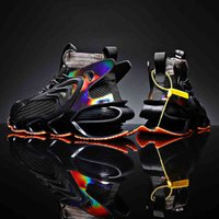 Erkek Ayakkabı 2021 Bahar ve Yaz Trendy Mesh Casual Nefes Runnner Spor Şok Emme Bıçağı Aşınmaya dayanıklı Sneaker