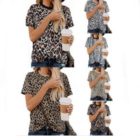 2019 summer new leopard print women's T-shirt round neck short sleeve top