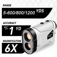 Golf Training AIDS 600M / 800m / 1200m 6x Rangfinder Mini Entfernungsmesser Hohe Präzisionsgeschwindigkeit Tester Range Finder mit Aufbewahrungstasche Hängen Seil