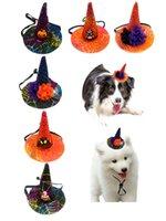 Cão vestuário Halloween Pet Bates com abóbora Bast Bat Ornaments Cogs Cães Cães Festa Filhote Filhote Filhote Kitty Cabeça Decoração Phjk2109