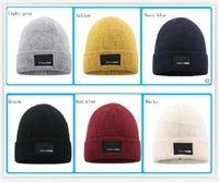 Knitted Hat Men Women Autumn Winter Outdoor sport caps Solid Color Unisex Warm Hats Super Good Quality