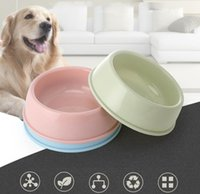 Candy Color Plastic Pet Feeding Ciotole Commercio all'ingrosso Portatile Carino Round Dog Acqua Acqua Alimentatore Alimentatore Acqua Durable Water Food Container per animali domestici