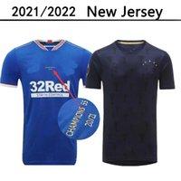 글래스고 레인저 챔피언스 55 버전 축구 홈 멀리 유니폼 흑인 훈련 셔츠 2022 2021 Defoe Morelos Kent Aribo Arfield 20/21 남자 축구 유니폼