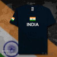 2021 جمهورية الهند تي شيرت رجل تي شيرت القطن الأمة فريق القطن اجتماع المشجعين الشارع الشهير اللياقة البدنية البلد ind الهندي العلم H0913