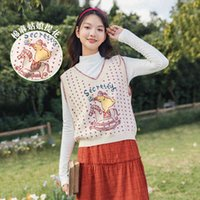 Kazak Bahar Varış Sanatsal Kalp Desen Jakarlı V Yaka Ceket Kazak Renk Yelek Kadın Kazak JUAW