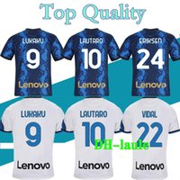 S-2XL 21 22 الكبار لكرة القدم جيرسي Lautaro Alexis Perisic Football Shirt 2021 2022 Politano Barella Mailleot de