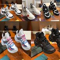 럭셔리 여성 아빠의 신발 편안한 레이스 업 연결 레저 플랫폼 가죽 스티치 테니스 Chaussures