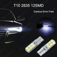 50Pcs Lot White T10 W5W 2835 12SMD Canbus Error Free Wedge LED Bulbs For 194 168 Clearance Lamps Car Interior Dome Door License Plate Light 12V