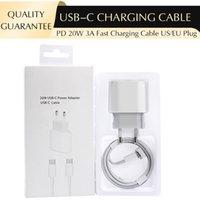 빠른 충전기 20W PD 전원 어댑터 USB-C TO TOME-C 케이블 1M / 3FT US EU 플러그 iPhone 8 Plus X XS 11 12 Mini Pro Max