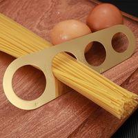 簡単クリアパスタ定規測定ツール4サービング部分ステンレス鋼スパゲッティ測定業者家庭用キッチン料理用品KKE5304