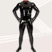 الجسم تشكيل حجم كبير متعة اللاتكس الخادم مثير مرحلة القماش مرآة طلاء الرجال جل معطف B02