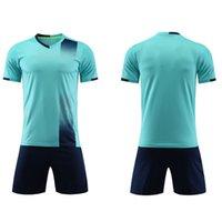 2021 Fútbol azul claro conjuntos de fútbol camisa de fútbol para hombres y mujeres adultos de entrenamiento para mujer personalidad personalidad de manga corta para niños Jersey