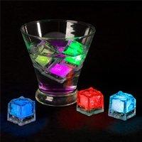 LED 아이스 큐브 모양 조명 액체 활성화 된 잠수정 소설 조명 재사용 가능한 색상 변경 배터리 결혼식 파티 (12 팩)