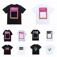 2021 Verano para hombre diseñadores para mujer T Shirts Camisetas sueltas Offs Marcas de moda Tops Hombre Casual Camisa Lujos de lujo Ropa Calle Shorts Blanco Camas de manga Ropa Polos Tshirts