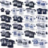 2021 رجل 11 ميكا Parsons 88 Ceedee Lamb 4 Dak Prescott 21 Ezekiel Elliott 55 Leighton Vander Esch Football 19 Amari Cooper Jersey