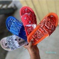 Zapatillas Mujeres Unisex Summer Print Slip On Ladies Sandalias planas Sandalias Casuales Diapositivas Femenino Comfort Beach Shoes Scoffs 35-43