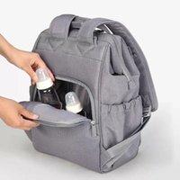 Designer Mommy Backpack Diaper Bag NURSING BAMBINO Pannolini da pannolini da viaggio all'aperto Blu Black Grey Bag