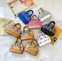 가죽 desinger 아이들 꽃 인쇄 편지 체인 핸드백 만화 껍질 양동이 가방 PU 메신저 동전 지갑 싱글 어깨 가방