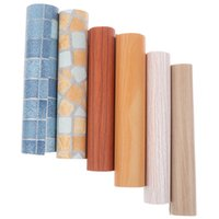 Wallpapers 1Pcs 45*20cm Waterproof Wood Wallpaper Roll Self Adhesive Contact Paper Doors Cabinet Desktop Modern Decorative