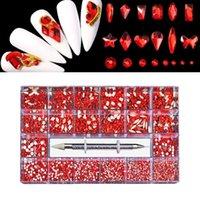 Nail Art Décorations 3D Strass mixtes Gems Cristal Gémit Diamonds Perles Perles Fournitures d'artisanat Outils pour