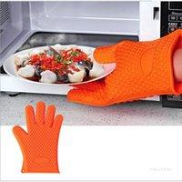 Küchenwerkzeuge Silikonhandschuheorganisation Isolierte Wärmehandschuhe Mikrowellenherd Handschuhe Platte Clip Anti-Scald Verdicken Mittküchenwerkzeuge