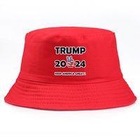 2024 Trump Fisherman Hat Gardez l'Amérique Great Hotel Femmes Femmes Cap Viseur Fashion Street Seau Chapeaux IIA957