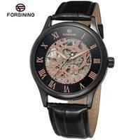 Uomini ES per il vincitore del vincitore Giappone Corea Fashion Simple Hollow Out cinghia manuale orologio meccanico