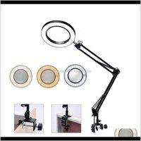 안경 비전 관리 건강 뷰티 플렉시블 데스크 대형 5x USB LED 돋보기 3 색 조명 돋보기 램프 루페 읽기 / 재 작업 /
